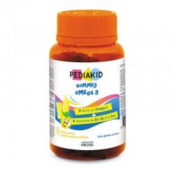 PEDIAKID НАТУРАЛЬНІ ВЕДМЕЖУЙКИ ОМЕГА 3 / PEDIAKID GOMMES OMEGA 3 - підтримує функції мозку, 60 жувальних вітамінів