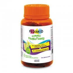 PEDIAKID НАТУРАЛЬНІ ВЕДМЕЖУЙКИ ПРОБІОТИКИ / GOMMES PROBIOTIQUES - Відновлюють мікрофлору кишечнику, 60 жувальних вітамінів