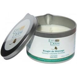 EffiDerm Свеча массажная с натуральным ароматом орхидей, 150 г