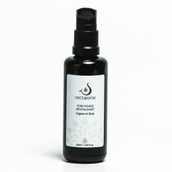 Nectarome Олія для обличчя ревіталізуюча арганія + е.о. троянди та герані / Soin visage Revitalisante Rose et Argane, 50 мл