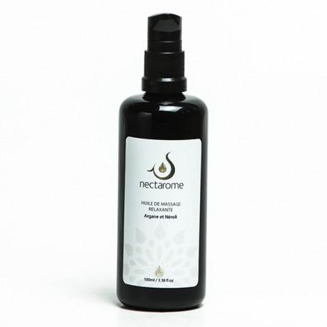 Nectarome Масло массажное релаксирующее аргания + нероли / Huile de massage Relaxante Neroli et Argane, 100 мл