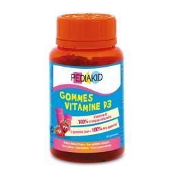 ПЕДІАКІД НАТУРАЛЬНІ ВЕДМЕЖУЙКИ ВІТАМІН D3, 60 жувальних вітамінів - Зміцнюють кістки та зуби, підвищують імунітет