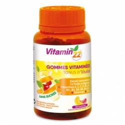 ВІТАМІН'22 ГАММІЗ МУЛЬТИВІТАМІНИ / Vitamin'22 GOMMES VITAMINEES, 60 жувальних вітамінів