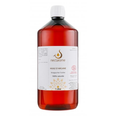 Nectarome Масло аргании холодного прессования органическое Экосерт (косметическое и диетологическое применение), 1 л