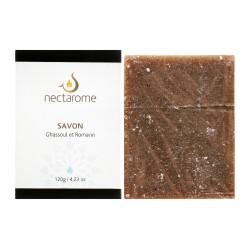 Nectarome Мыло на основе гассула для лица и тела / Savon au Ghassoul, 120 г