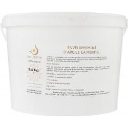 Nectarome Обертывание белая глина + мята для тела  / Enveloppement d'argile a la Mente, 2,5 кг