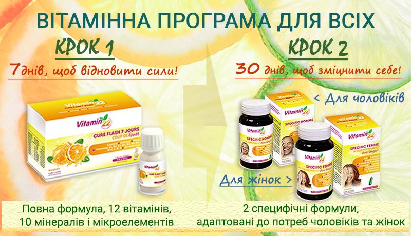 Вітамінні програми для чоловічого та жіночого організму